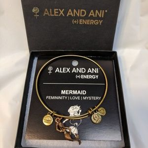 mermaid alex & ani bangle gold